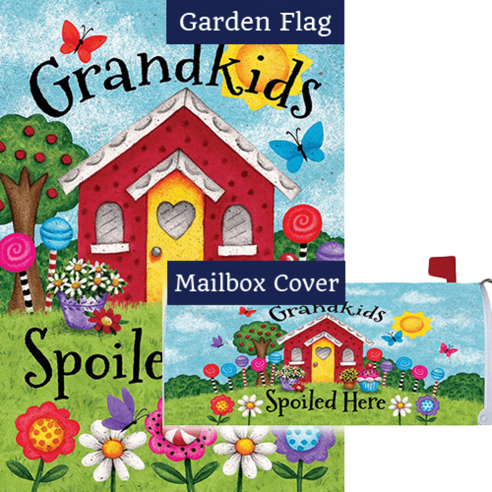 Grandkids Spoiled Here Flag Mailwrap Set (2 Pieces)