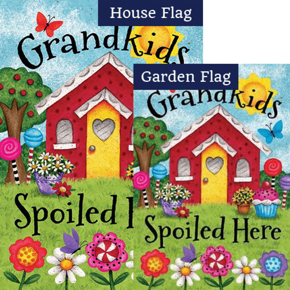 Grandkids Spoiled Here Double Sided Flags Set (2 Pieces)
