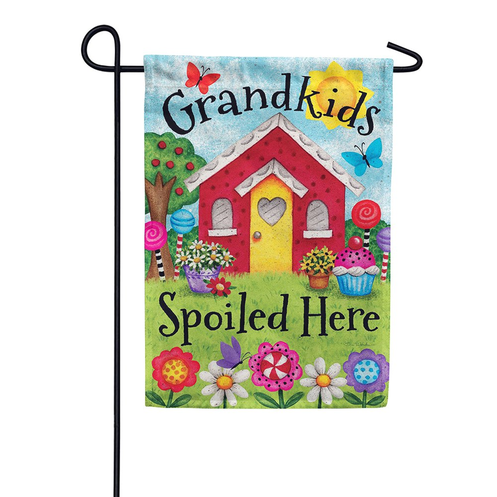 Grandkids Spoiled Here Double Sided Garden Flag