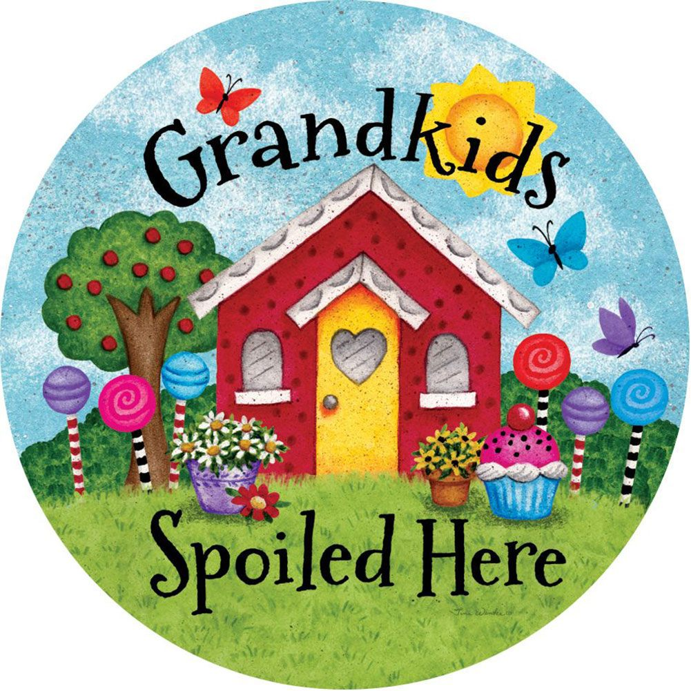 Grandkids Spoiled Here Accent Magnet