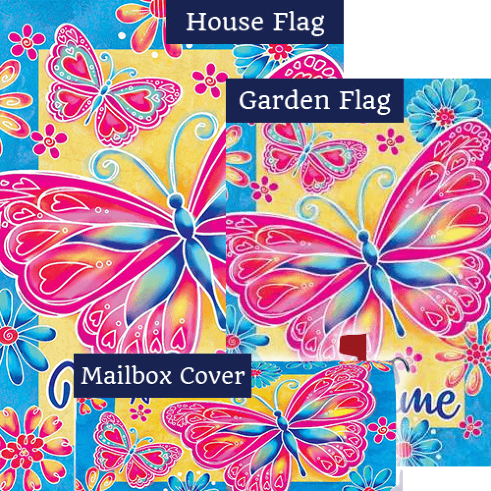 Bright Butterfly Double Sided Yard Makeover Set (3 Pieces)
