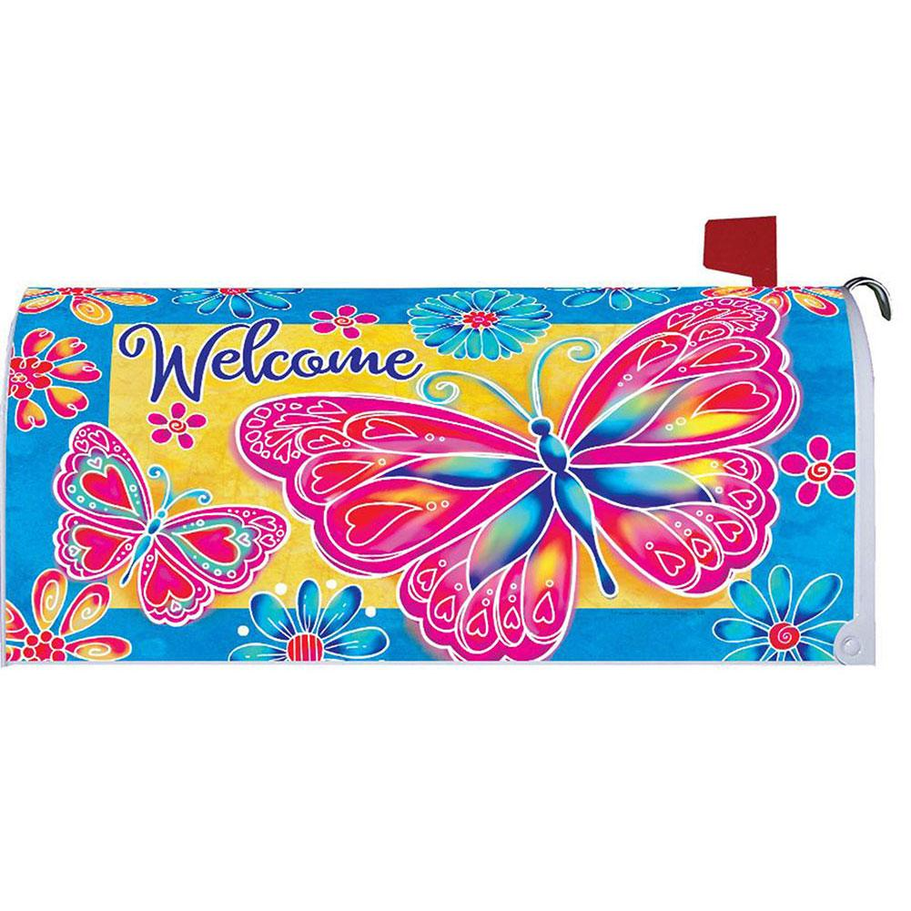 Bright Butterfly Mailbox Cover
