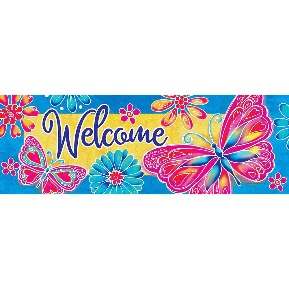 Bright Butterfly Signature Sign