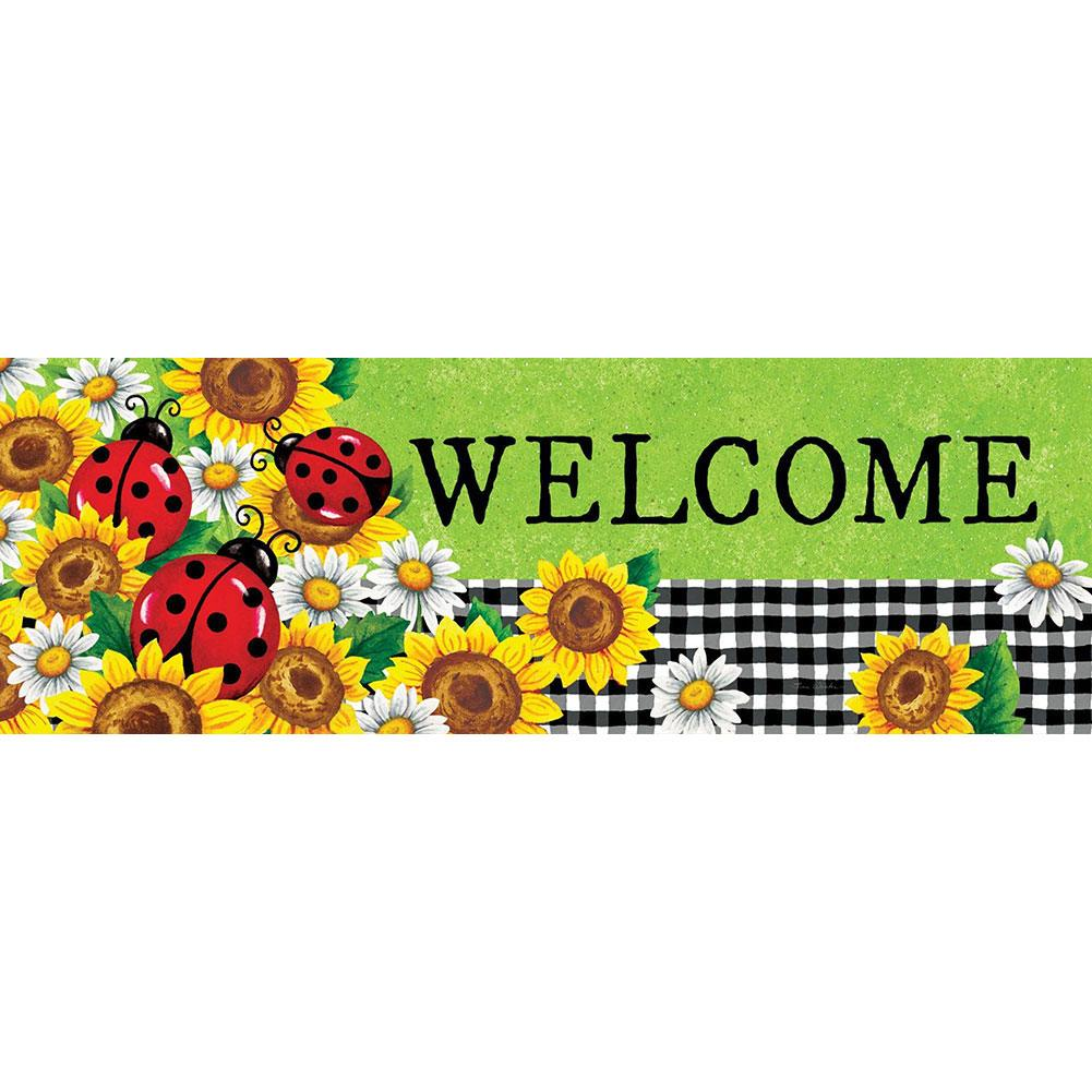 Sunflower Ladybug Signature Sign