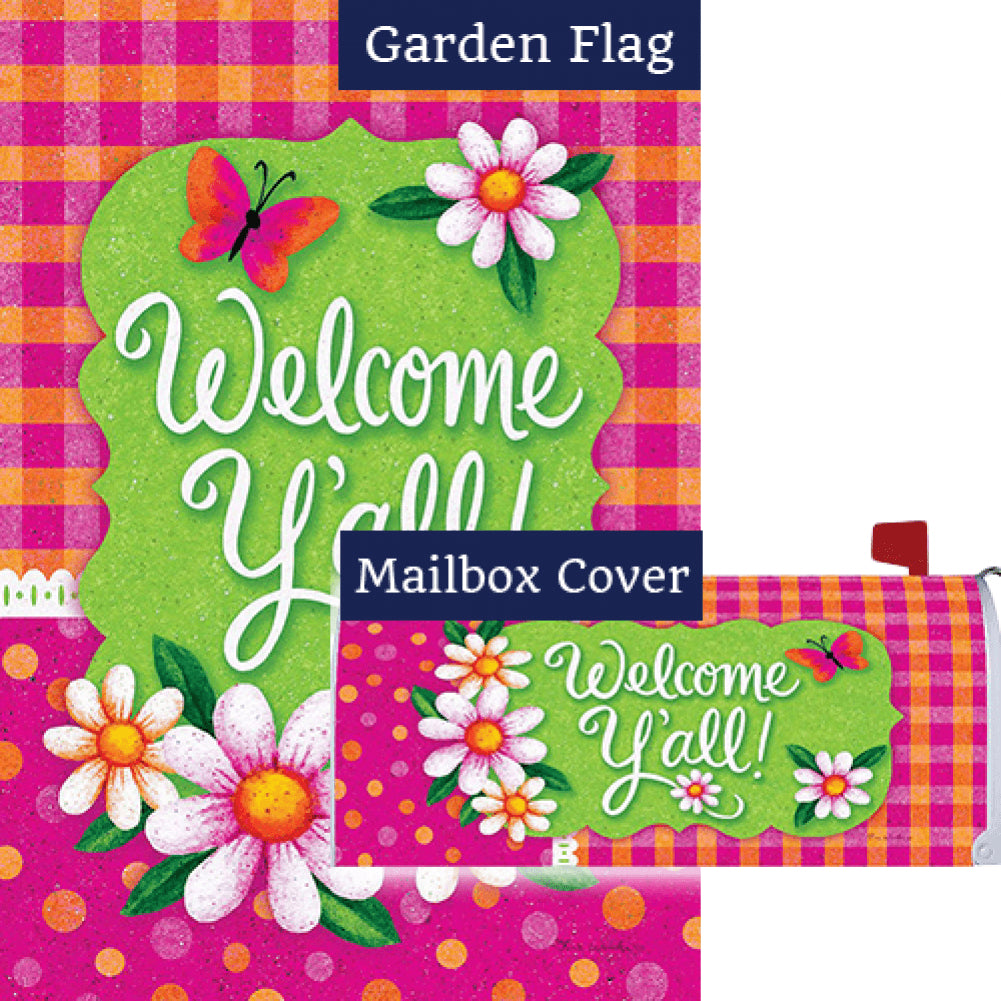 Gingham Polka Dot Flag Mailwrap Set (2 Pieces)