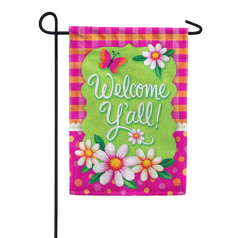 Gingham Polka Dot Double Sided Garden Flag