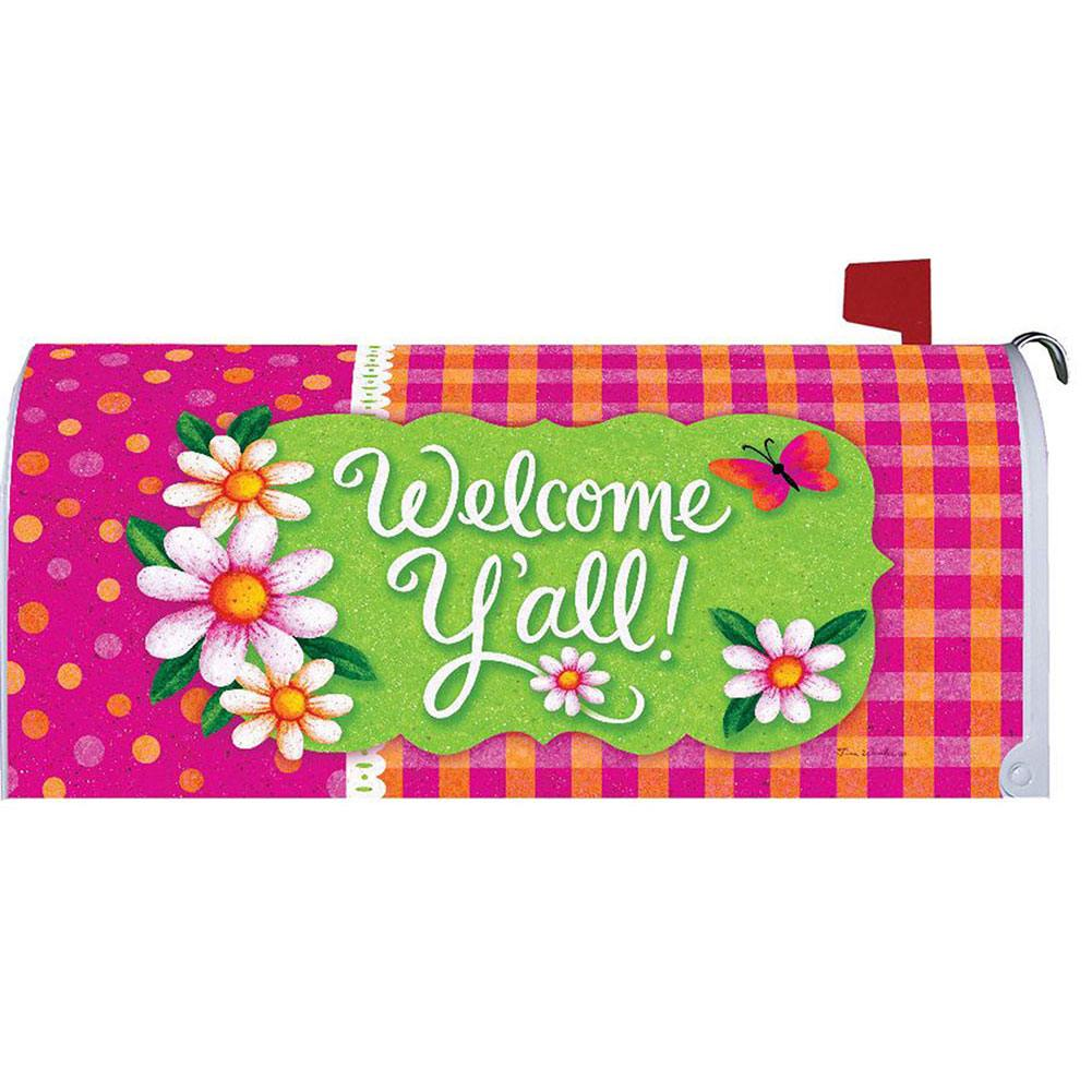 Gingham Polka Dot Mailbox Cover