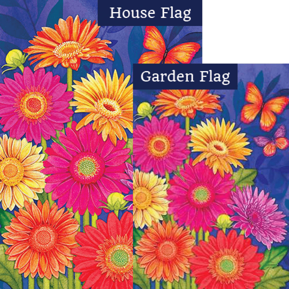 Glorious Gerberas Flags Set (2 Pieces)