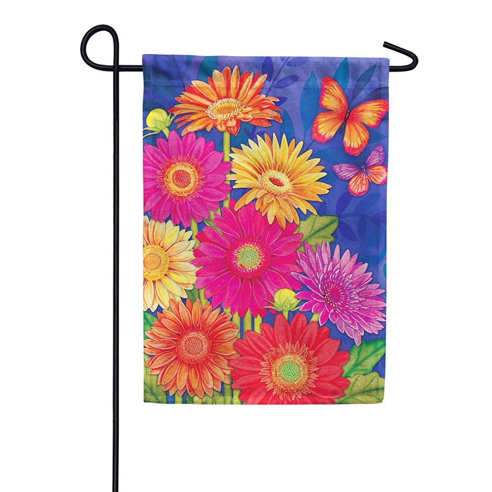 Glorious Gerberas Garden Flag