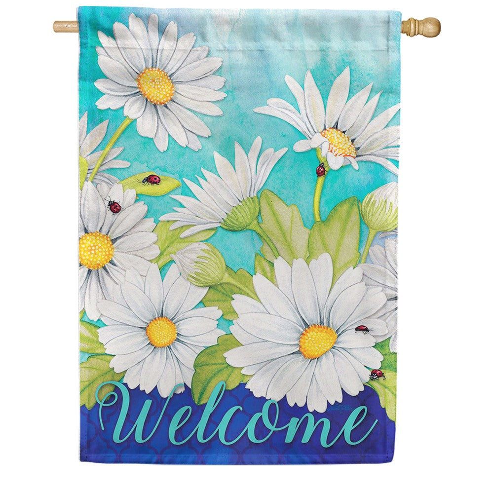 Delightful Daisies Floral Double Sided House Flag