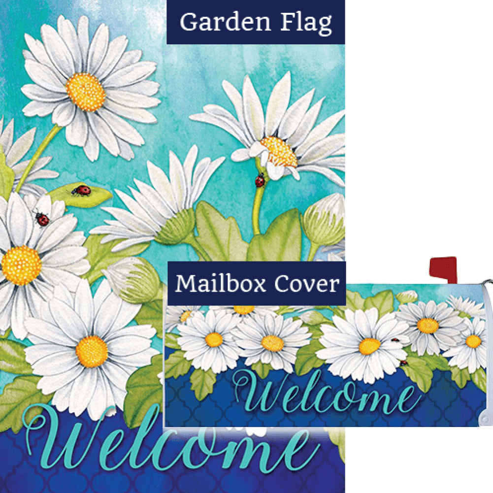 Delightful Daisies Floral Flag Mailwrap Set (2 Pieces)