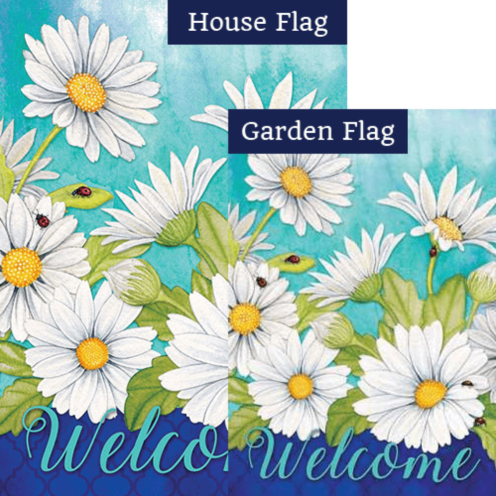 Delightful Daisies Floral Double Sided Flags Set (2 Pieces)