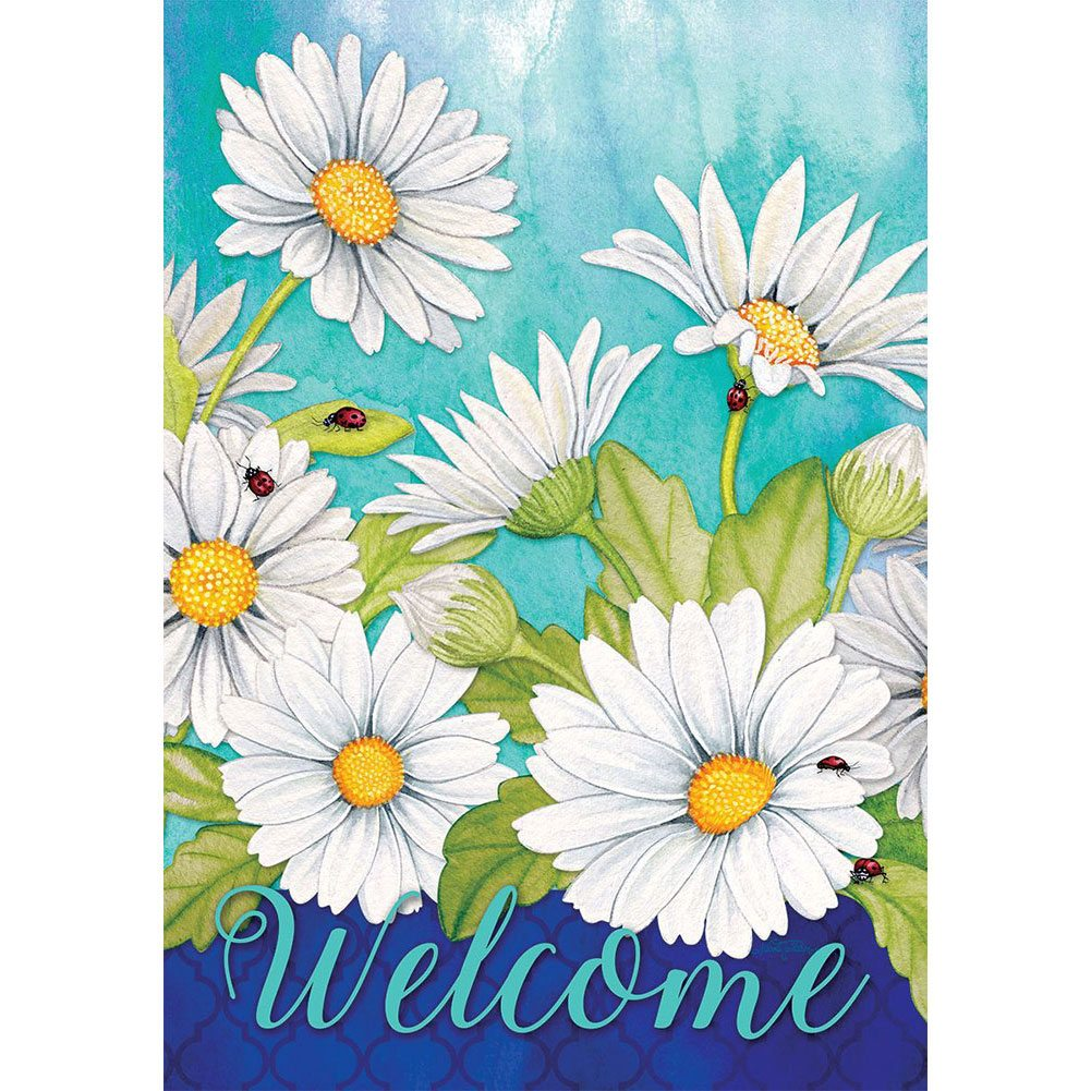 Delightful Daisies Floral Double Sided Garden Flag