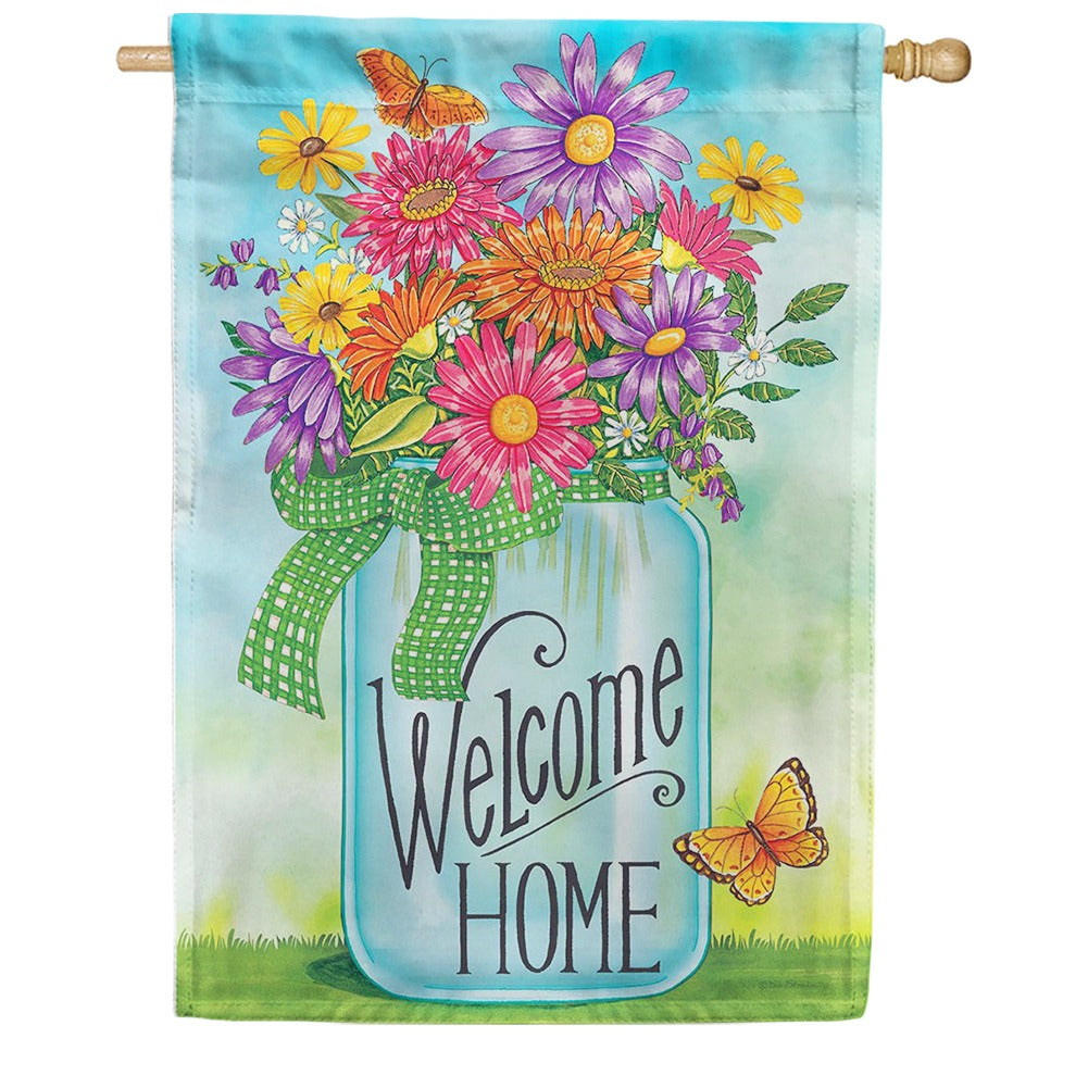 Colorful Daisies Double Sided House Flag