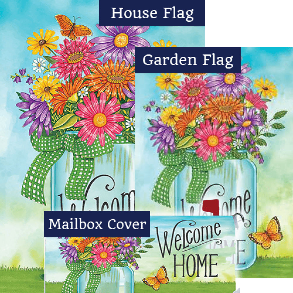 Colorful Daisies Double Sided Yard Makeover Set (3 Pieces)