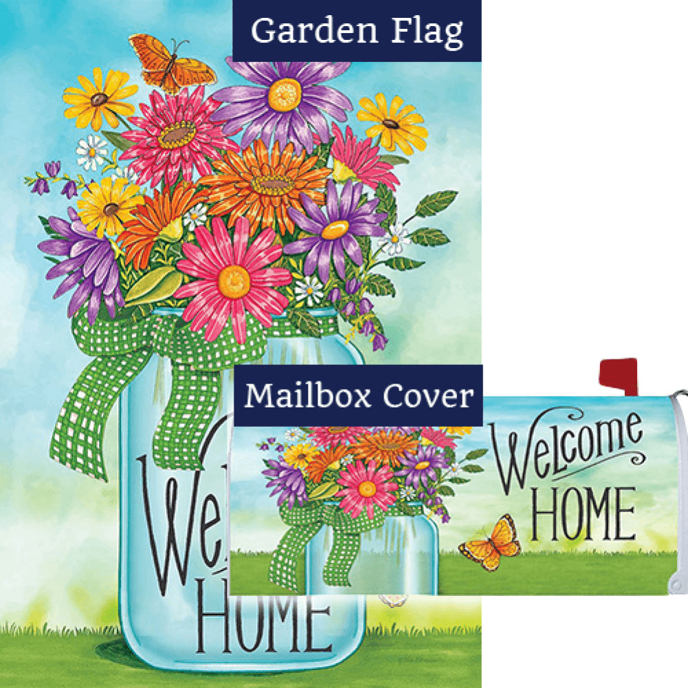 Colorful Daisies Double Sided Flag Mailwrap Set (2 Pieces)