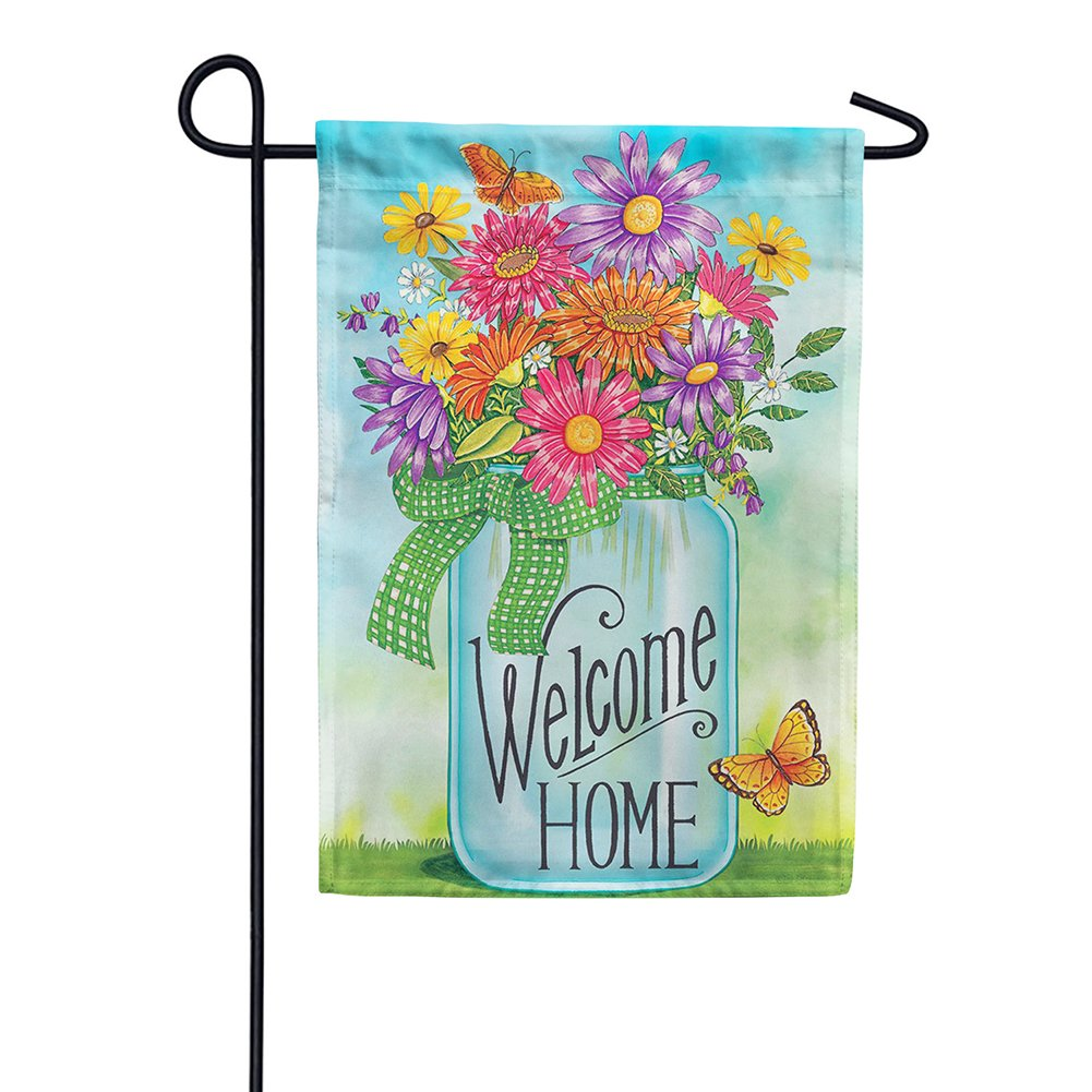 Colorful Daisies Double Sided Garden Flag