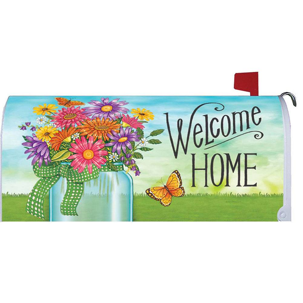 Colorful Daisies Mailbox Cover