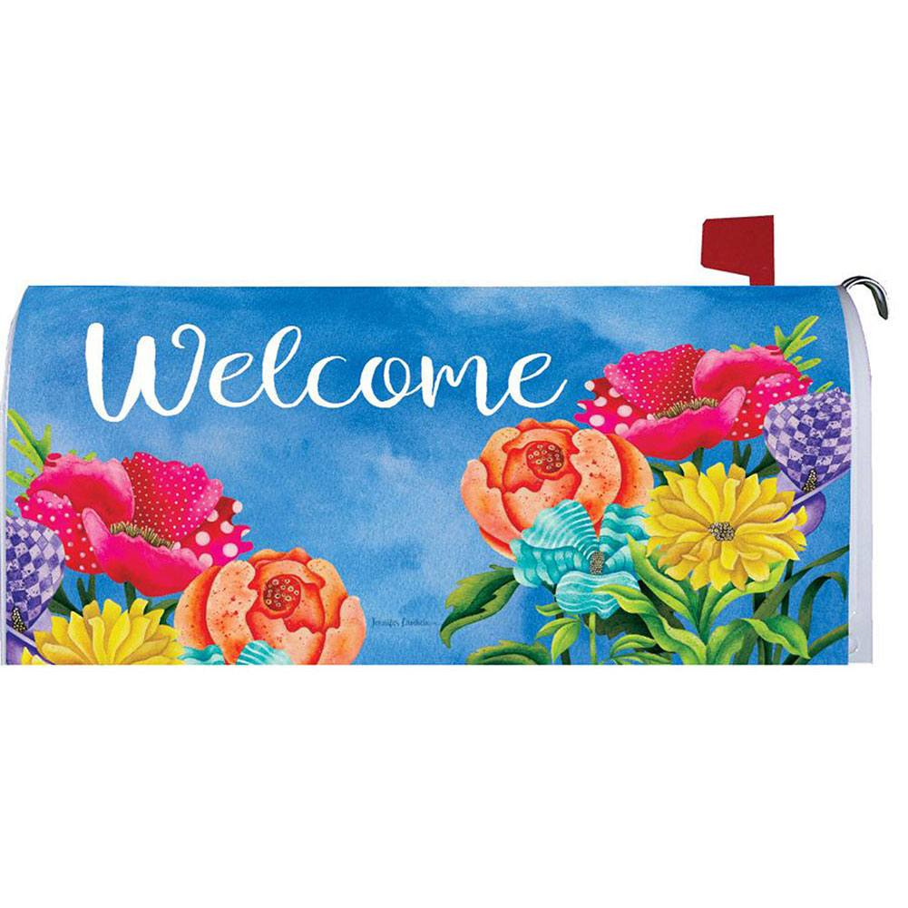 Patterned Posies Mailbox Cover