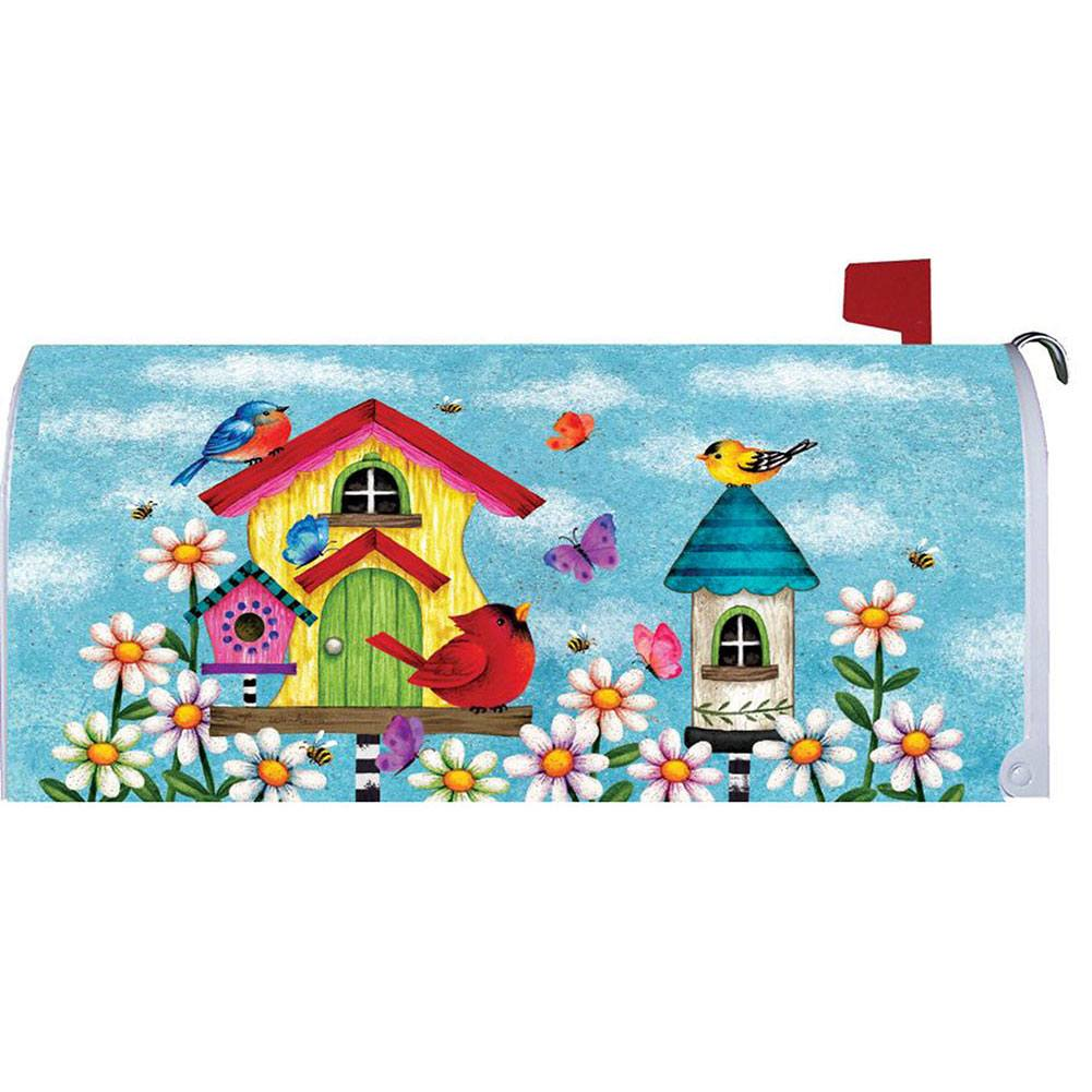 Whimsy Birdhouse Mailbox Cover