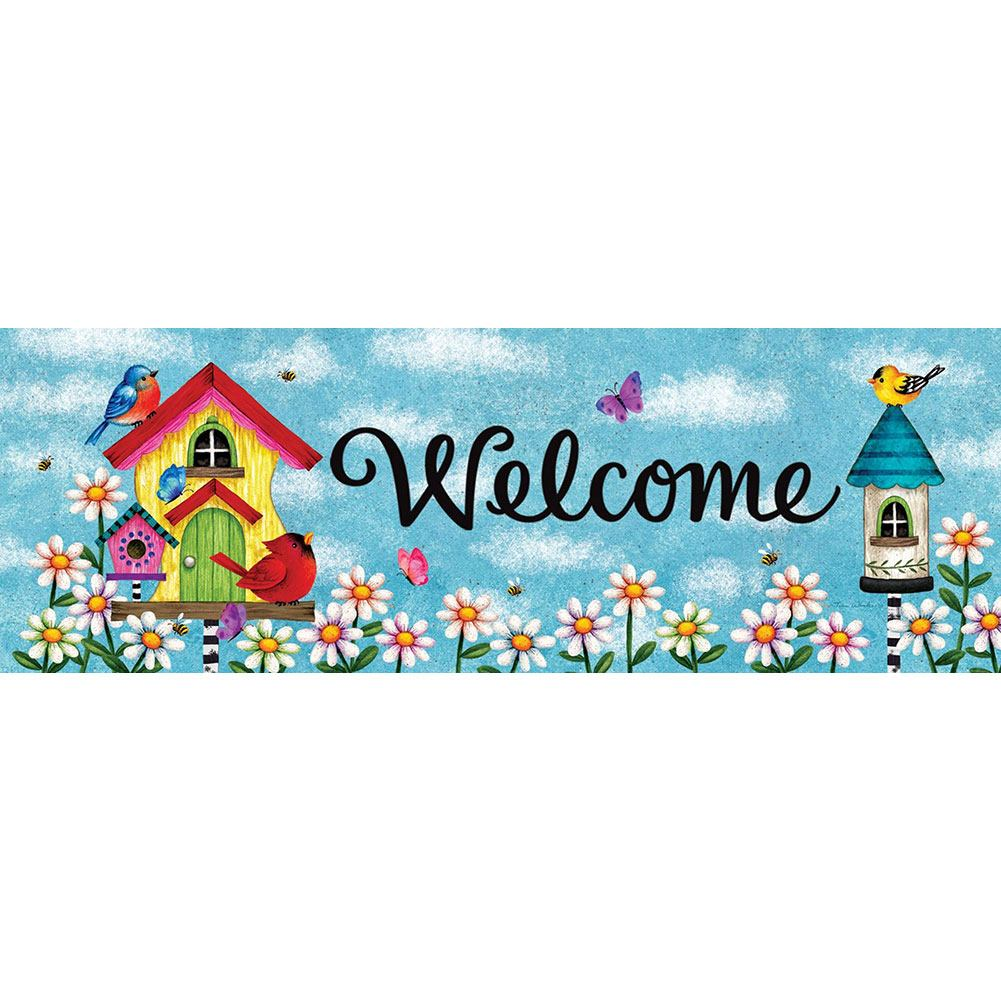 Whimsy Birdhouse Signature Sign