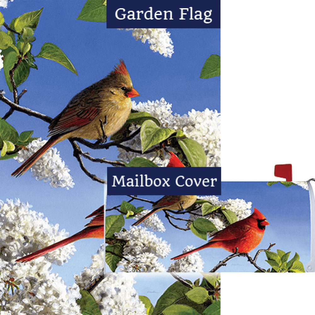 Cardinal And Lilacs Flag Mailwrap Set (2 Pieces)