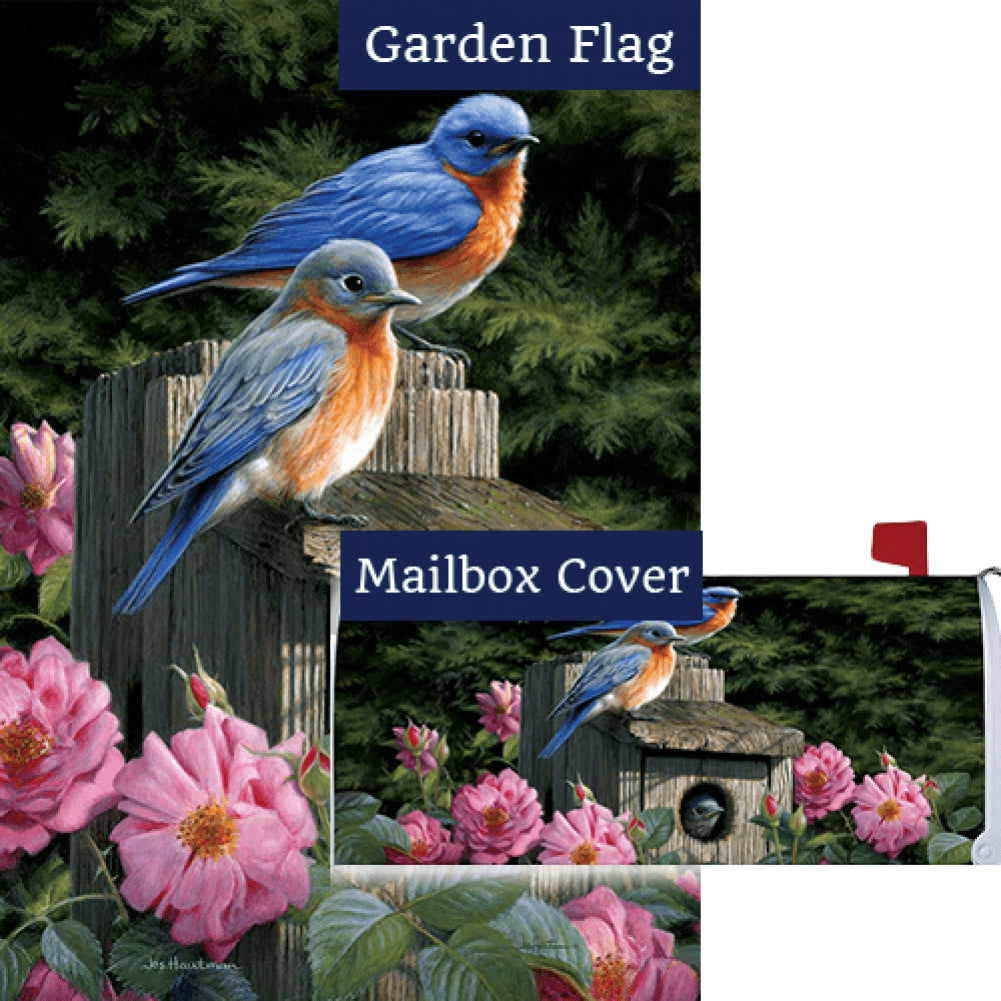 Bluebird House Floral Flag Mailwrap Set (2 Pieces)