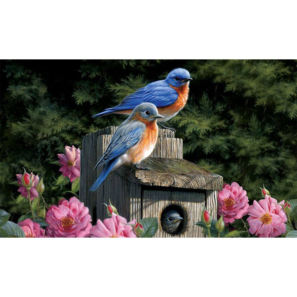 Bluebird House Floral Doormat