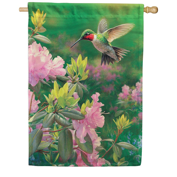 Hummingbird Rhododendron Flower Magnetic Mailbox Cover