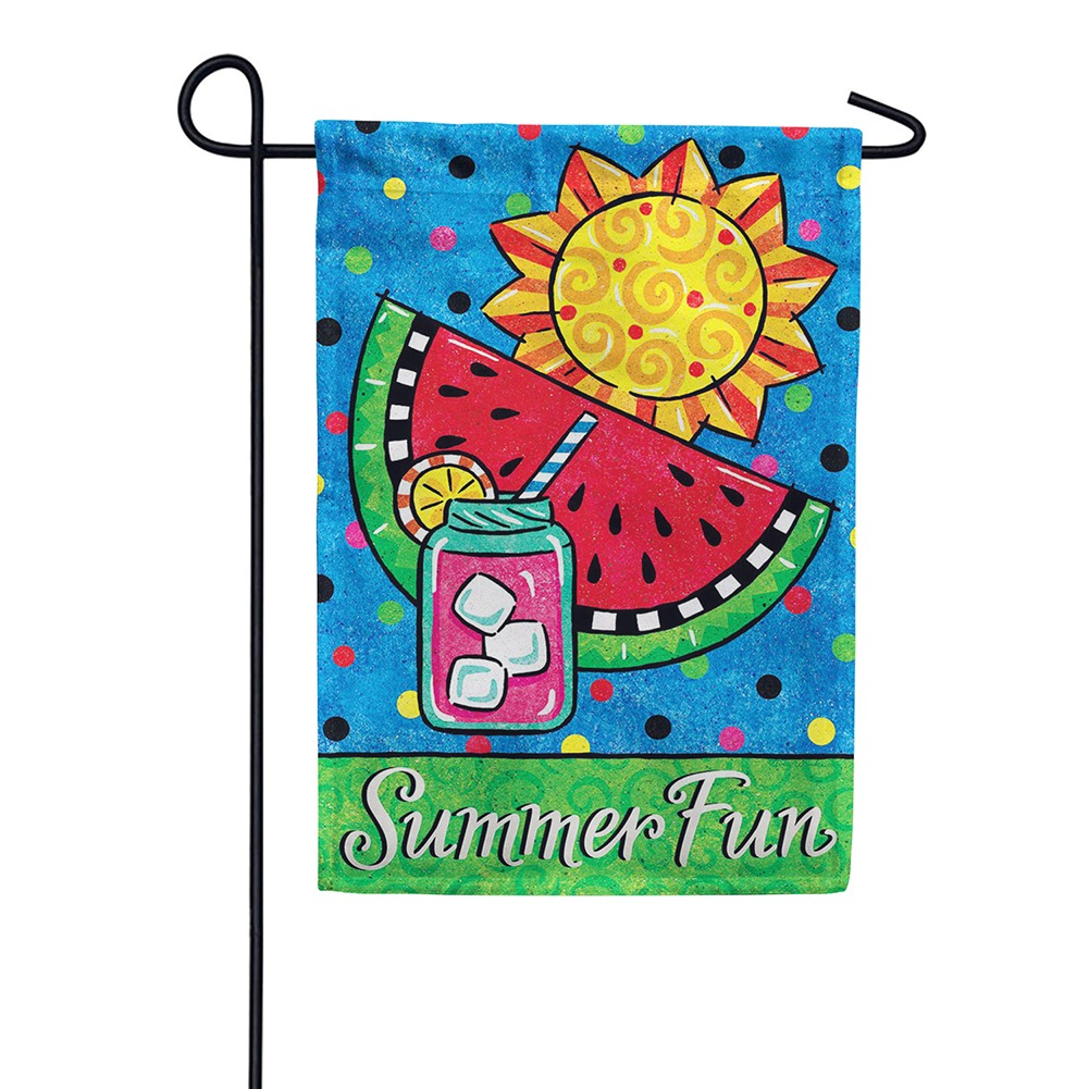 Summer Fun Watermelon Double Sided Garden Flag