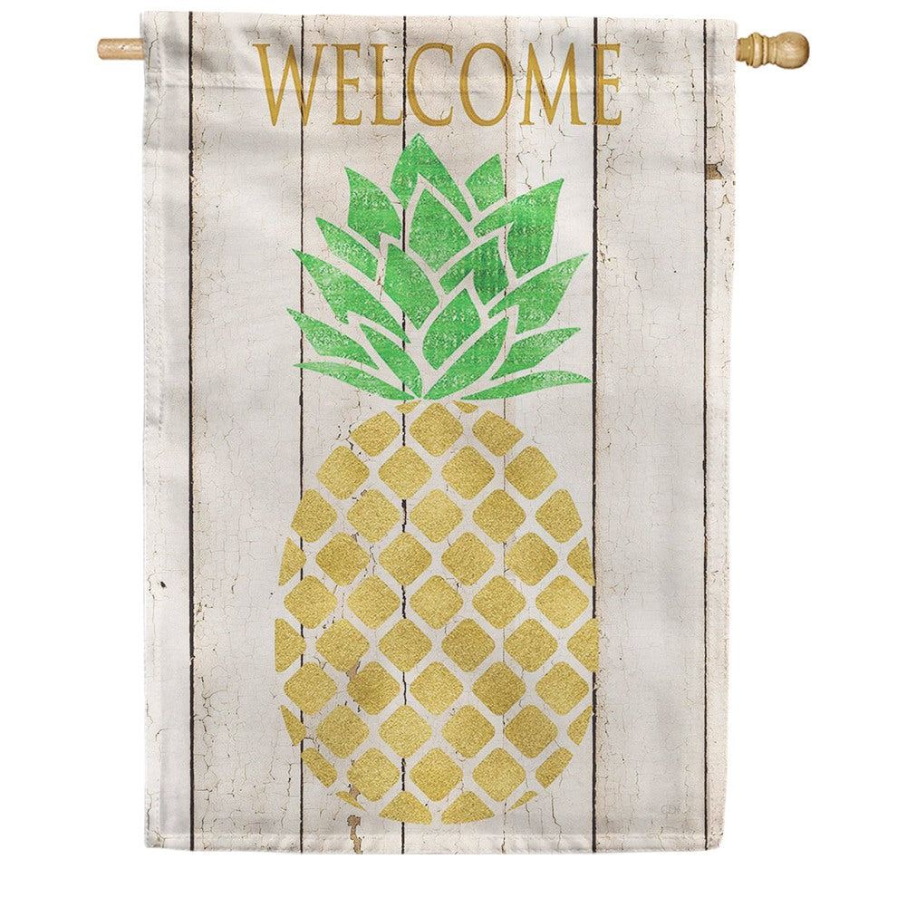 Farmhouse Pineapple Double Sided House Flag