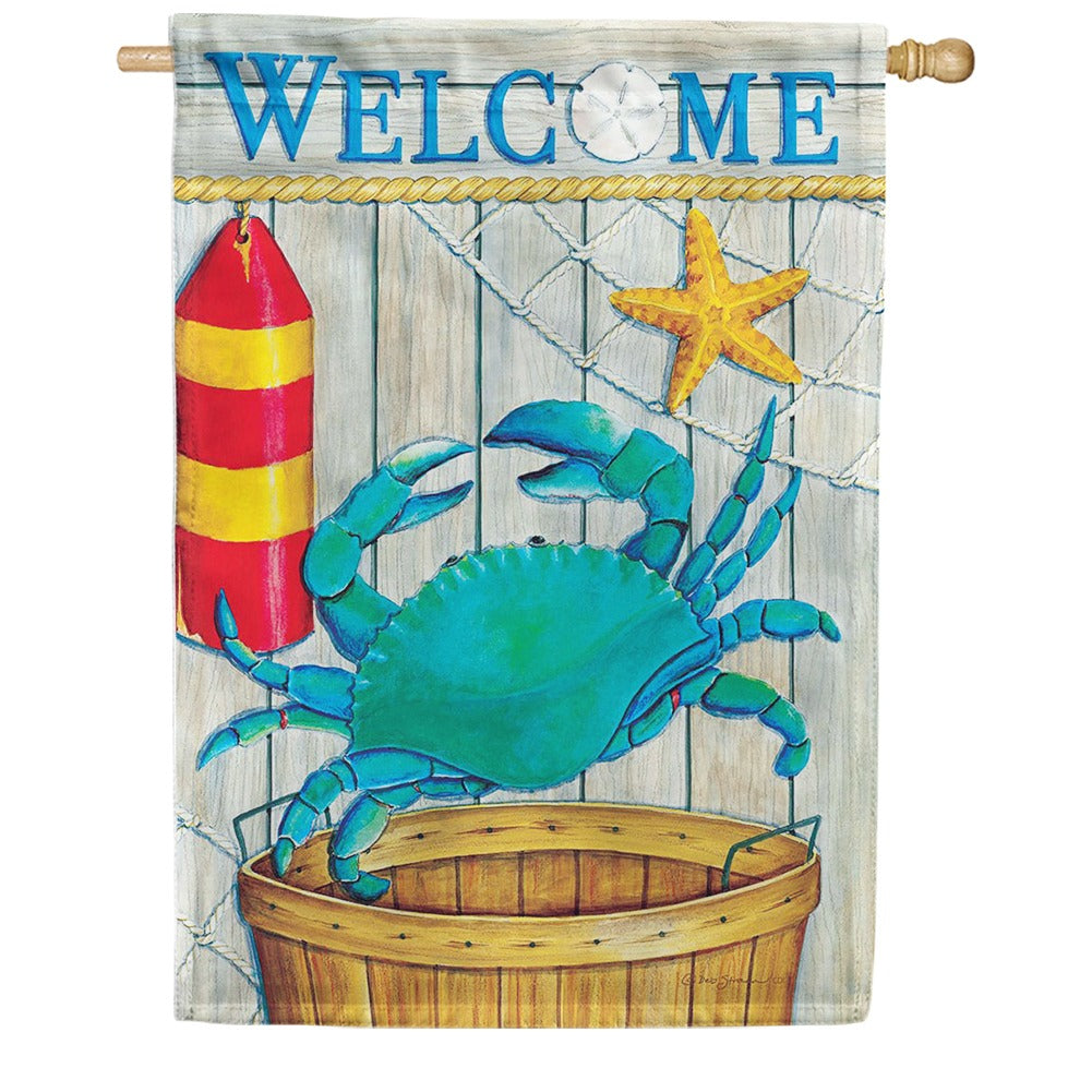 Crab Basket Double Sided House Flag