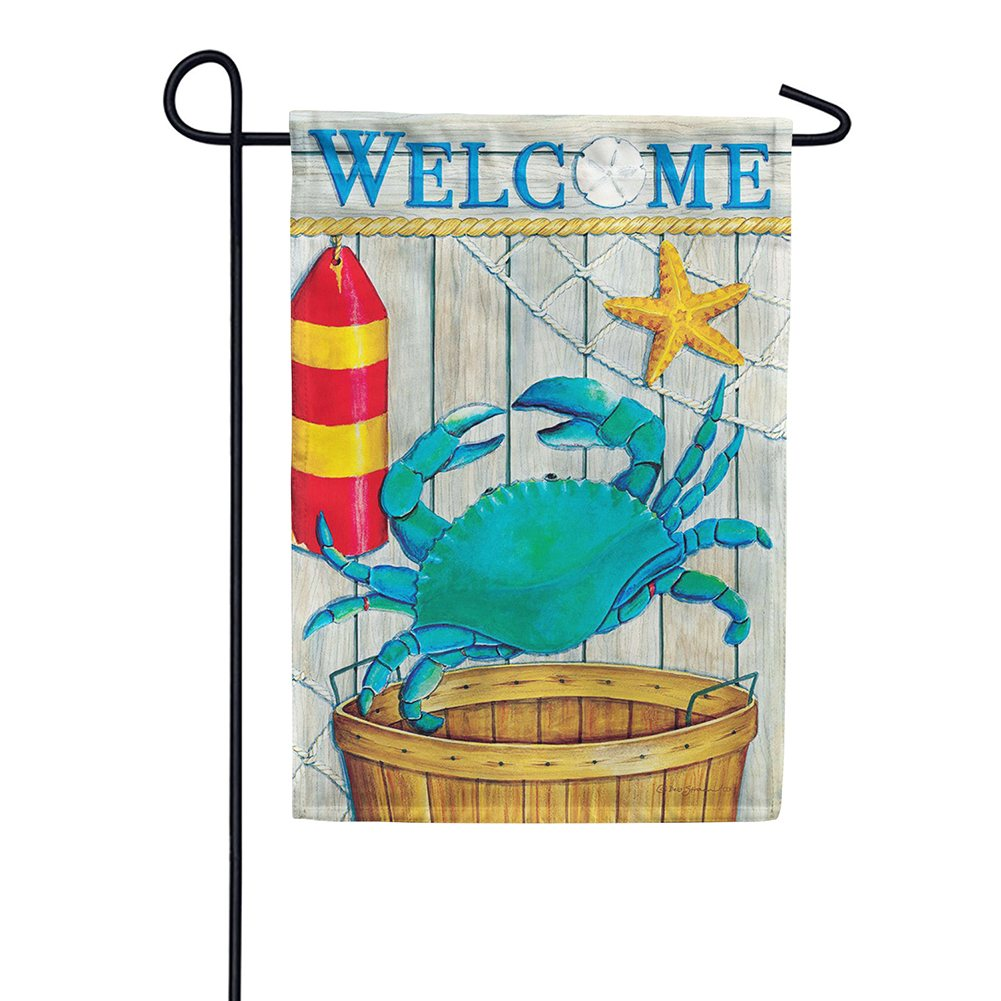 Crab Basket Double Sided Garden Flag
