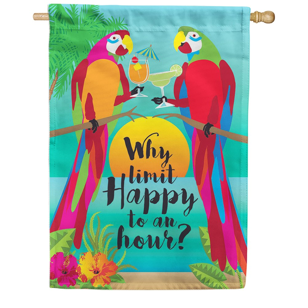 Why Limit Happy Double Sided House Flag