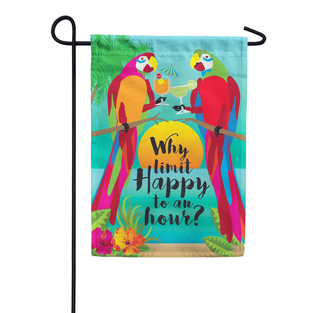 Why Limit Happy Double Sided Garden Flag