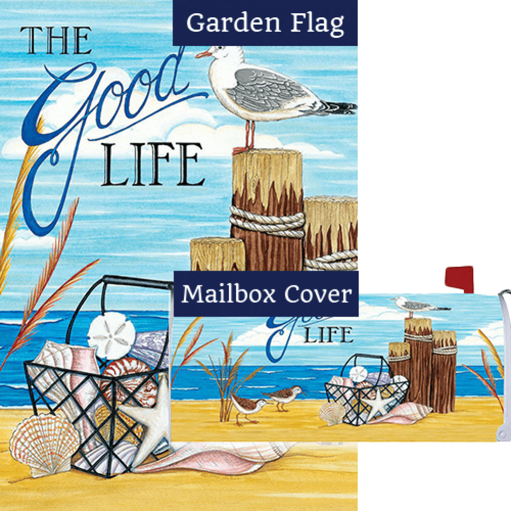 The Good Life Beach Flag Mailwrap Set (2 Pieces)