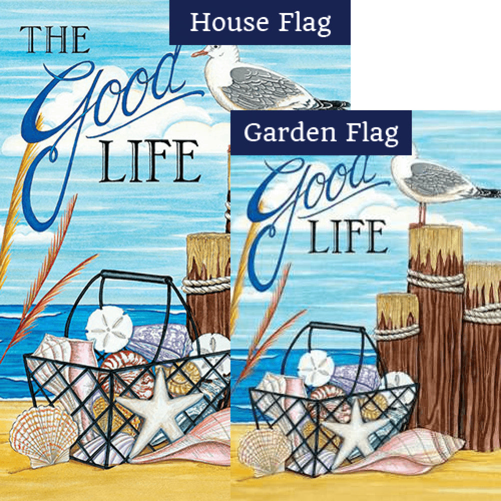 The Good Life Beach Double Sided Flags Set (2 Pieces)