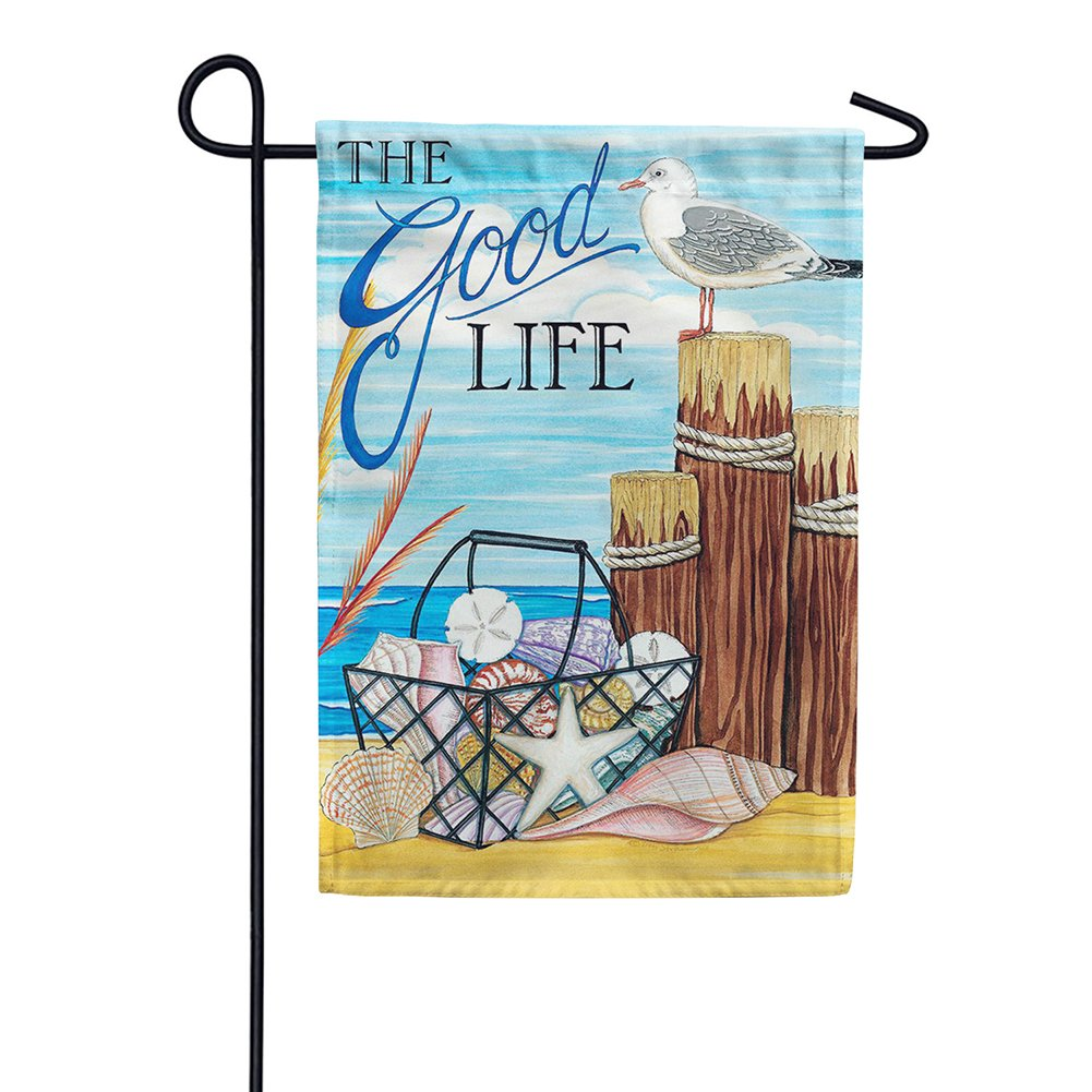 The Good Life Beach Double Sided Garden Flag