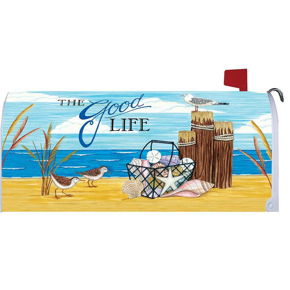 The Good Life Beach Mailbox Cover