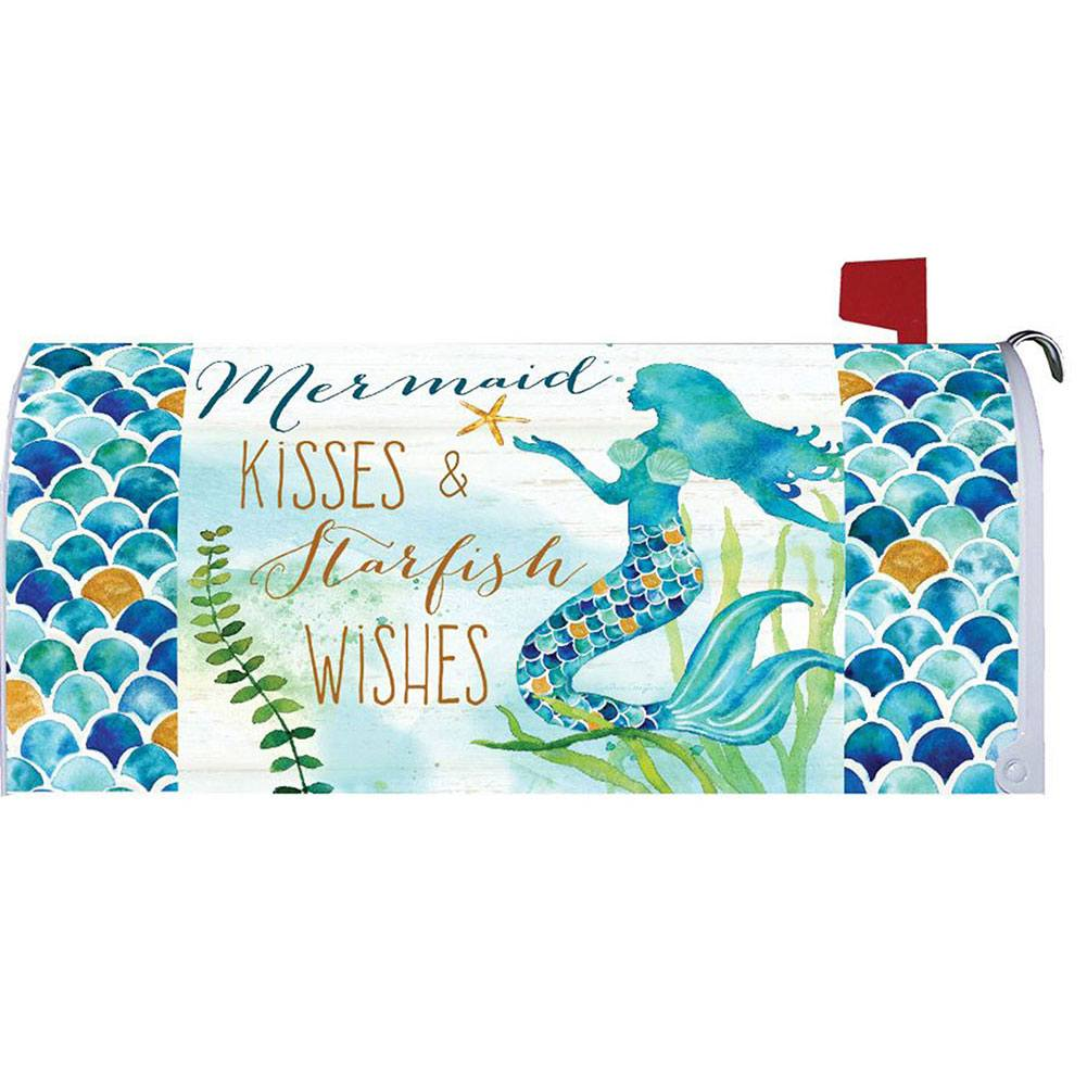 Mermaid Kisses Mailbox Cover