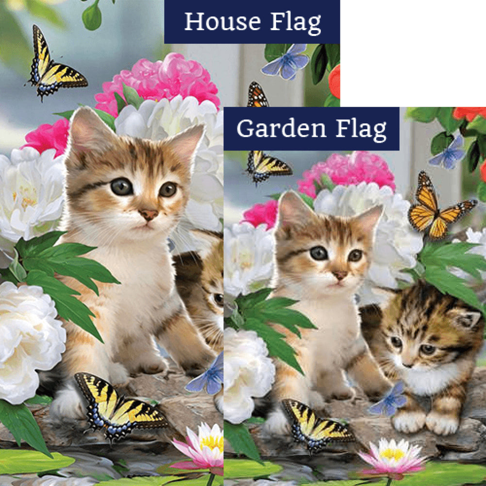 Dreamy Kittens Flags Set (2 Pieces)