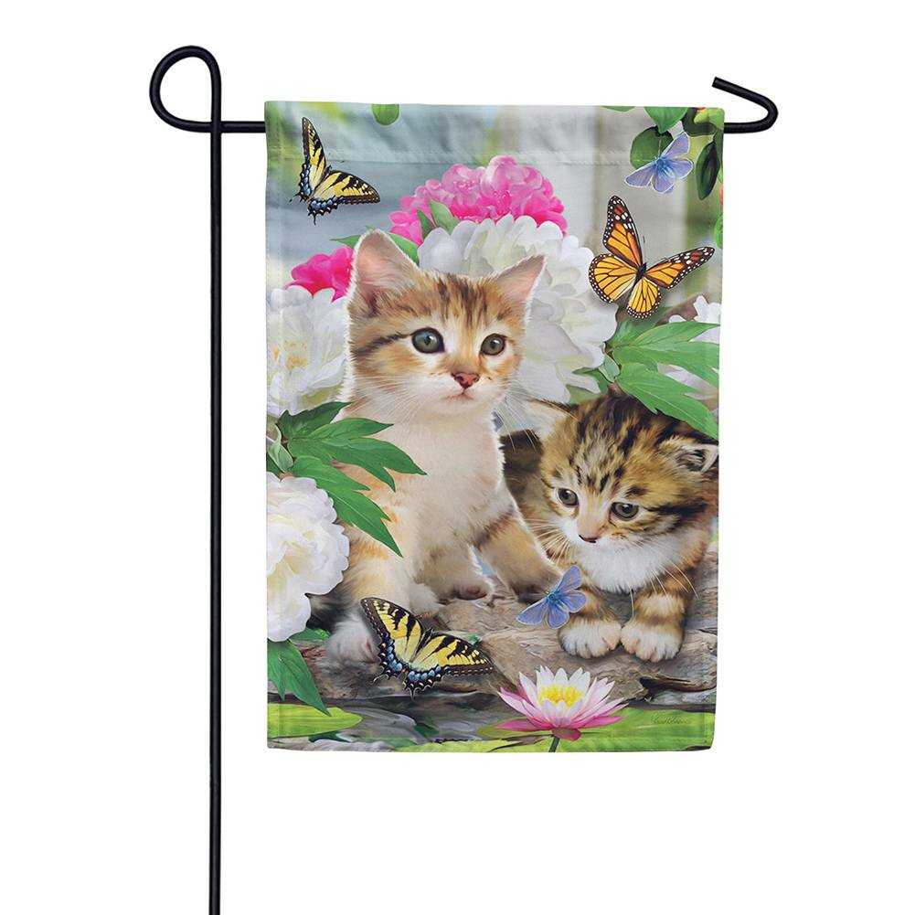 Dreamy Kittens Garden Flag