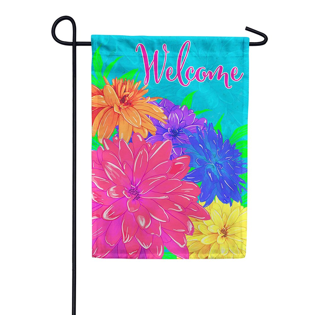 Summer Florals Double Sided Garden Flag