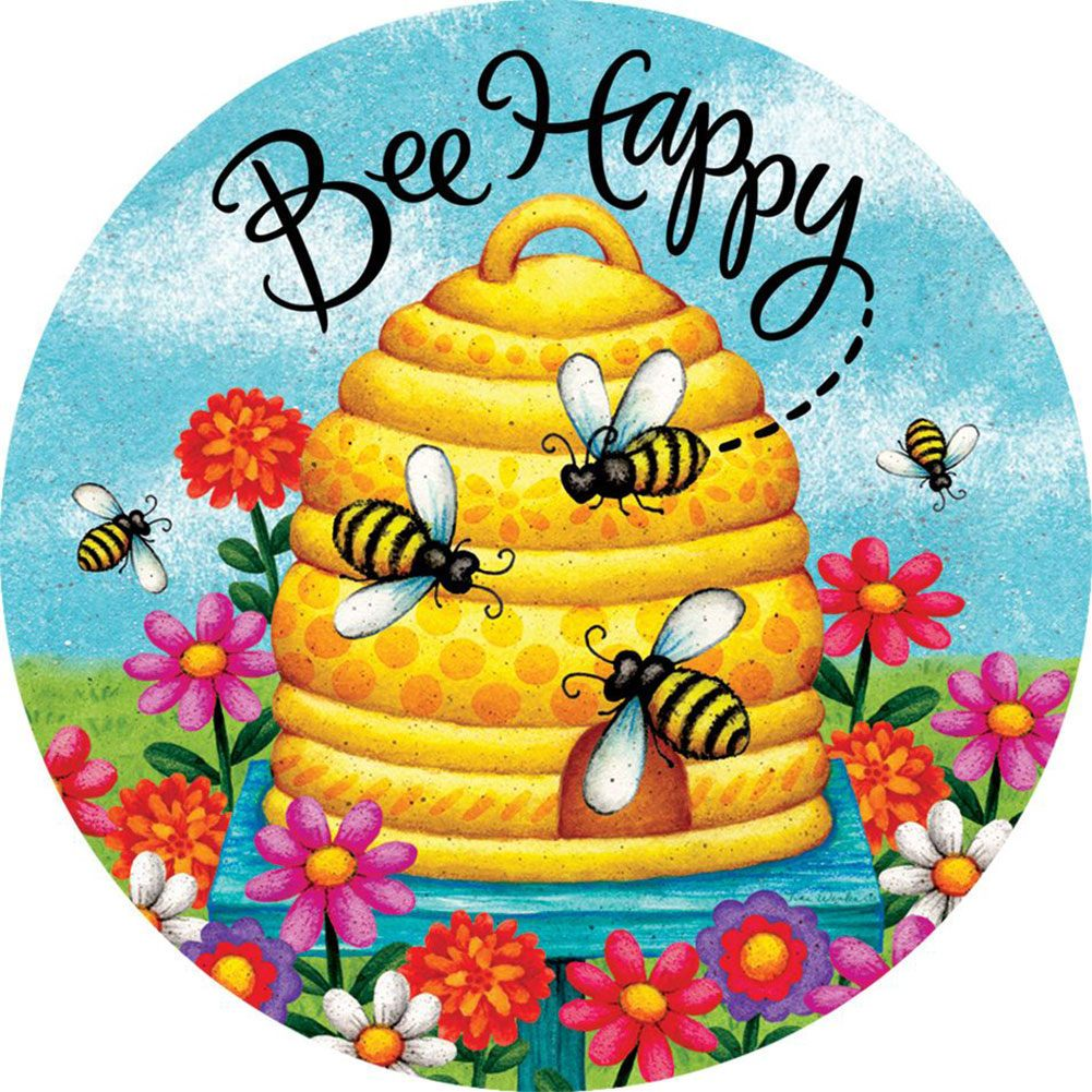 Bee Skep Bee Happy Accent Magnet