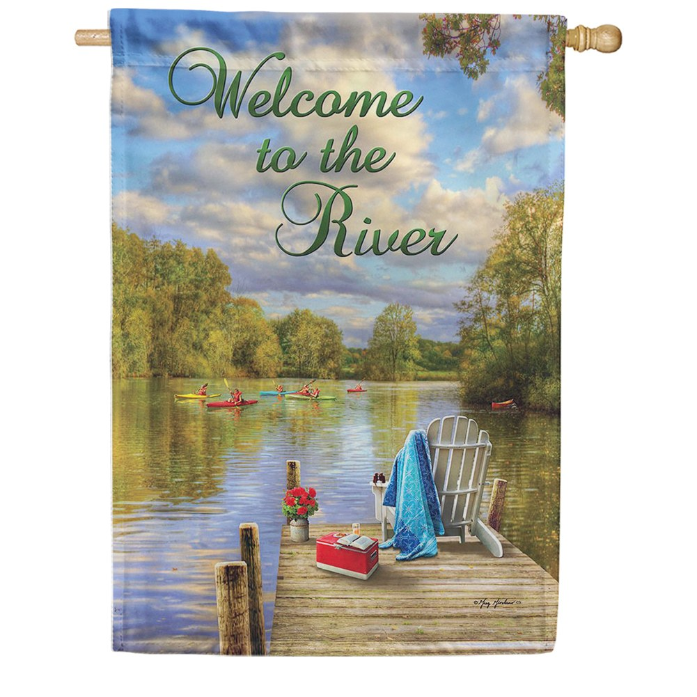 River Deck Double Sided House Flag