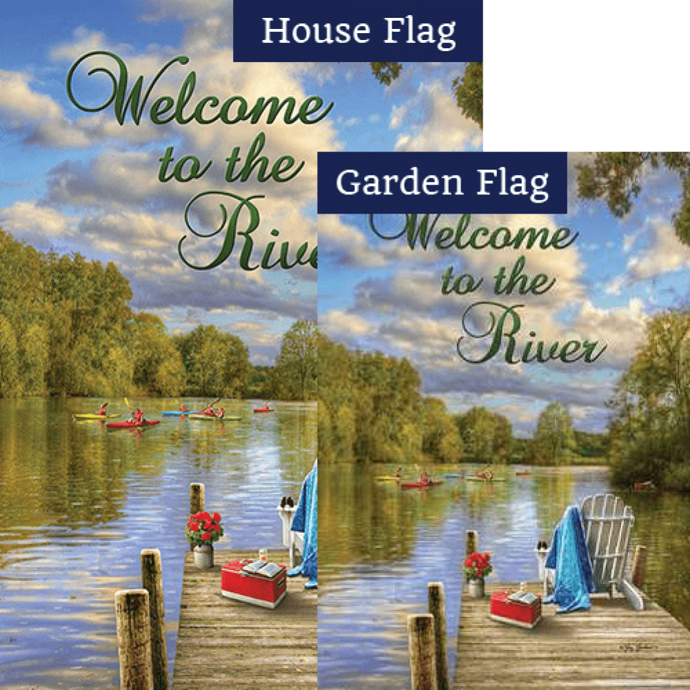 River Deck Double Sided Flags Set (2 Pieces)