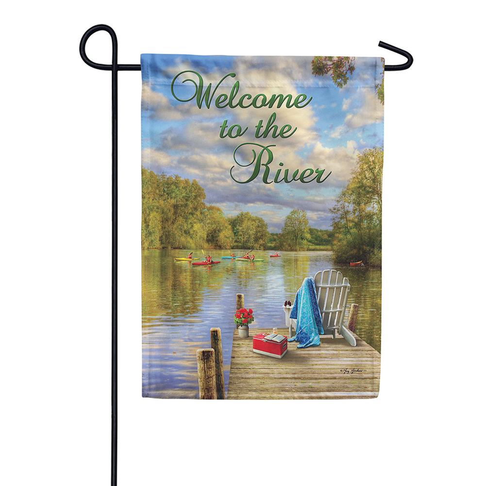 River Deck Double Sided Garden Flag