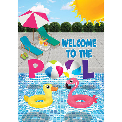 Welcome To The Pool Double Sided House Flag