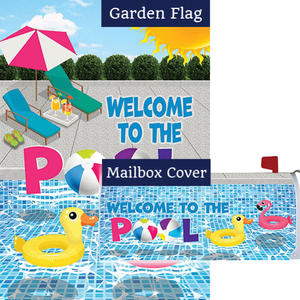 Welcome To The Pool Double Sided Flag Mailwrap Set (2 Pieces)