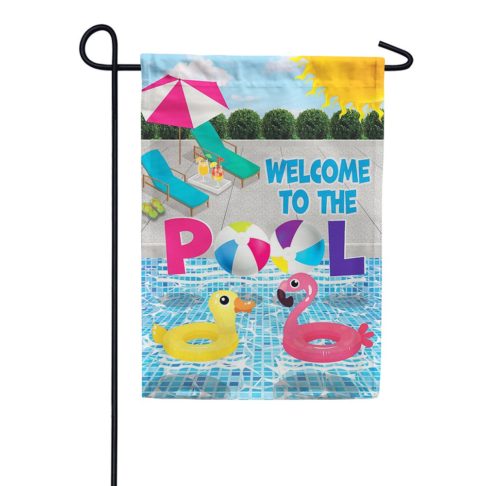 Welcome To The Pool Double Sided Garden Flag